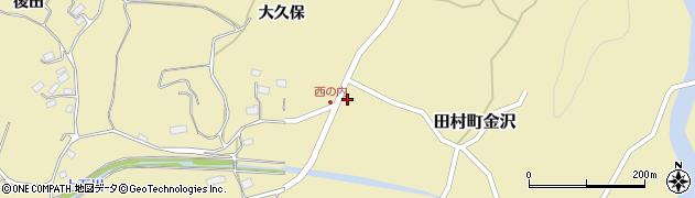福島県郡山市田村町金沢(仲田)周辺の地図