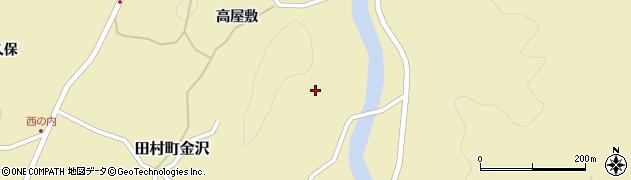 福島県郡山市田村町金沢(田仲)周辺の地図