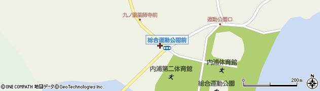 総合運動公園前周辺の地図