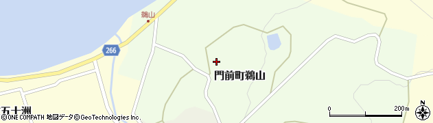 石川県輪島市門前町鵜山周辺の地図