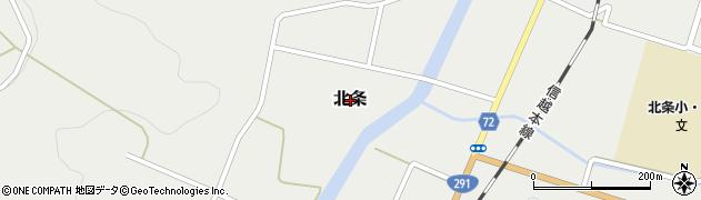 新潟県柏崎市北条周辺の地図