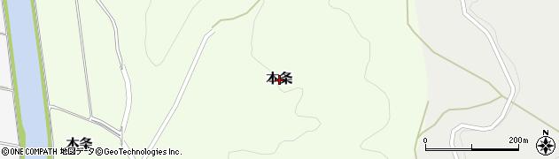 新潟県柏崎市本条周辺の地図