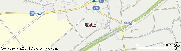 福島県郡山市三穂田町富岡(堰ノ上)周辺の地図