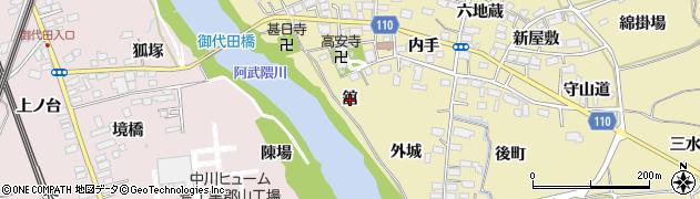 福島県郡山市田村町御代田(舘)周辺の地図
