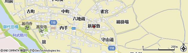 福島県郡山市田村町御代田(新屋敷)周辺の地図