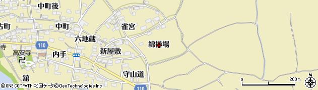 福島県郡山市田村町御代田(綿掛場)周辺の地図
