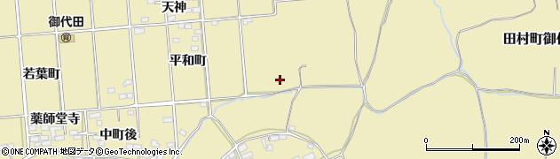 福島県郡山市田村町御代田(狐坦)周辺の地図