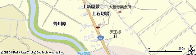 福島県郡山市田村町大善寺(上石切場)周辺の地図