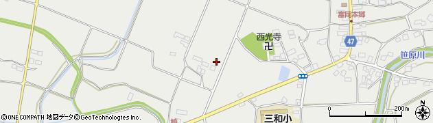 福島県郡山市三穂田町富岡(寺西)周辺の地図