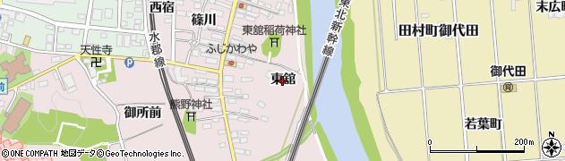 福島県郡山市安積町笹川(東舘)周辺の地図