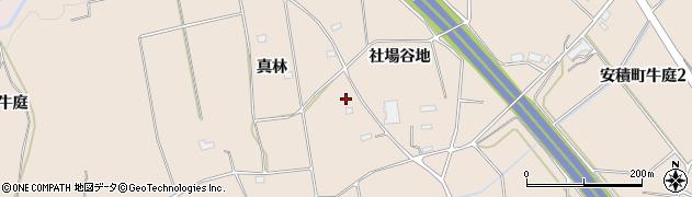 福島県郡山市安積町牛庭(真林)周辺の地図