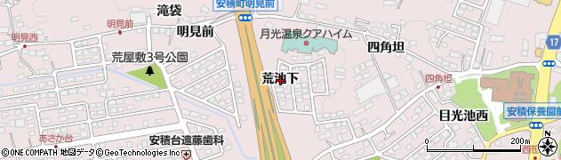 福島県郡山市安積町笹川(荒池下)周辺の地図