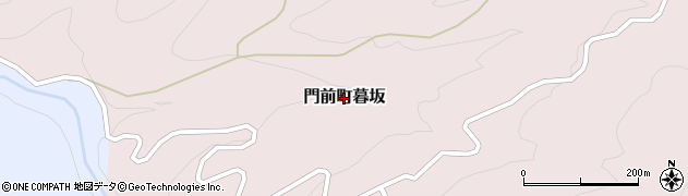 石川県輪島市門前町暮坂周辺の地図