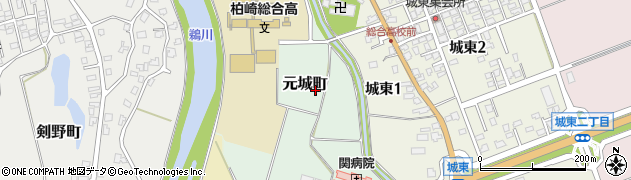 新潟県柏崎市元城町周辺の地図