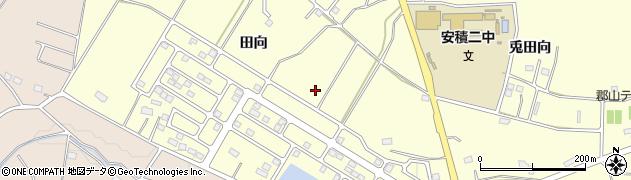 福島県郡山市安積町成田(田向)周辺の地図
