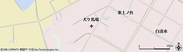 福島県郡山市三穂田町川田(犬ケ馬場)周辺の地図