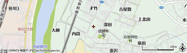 福島県郡山市田村町徳定(西ノ内)周辺の地図