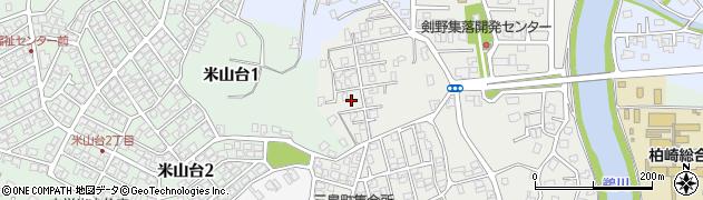新潟県柏崎市三島町周辺の地図