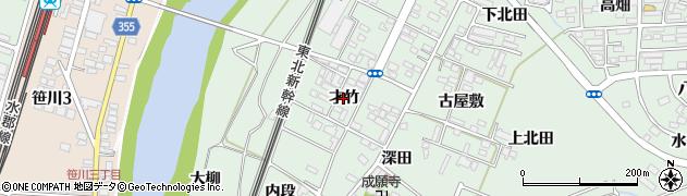 福島県郡山市田村町徳定(才竹)周辺の地図