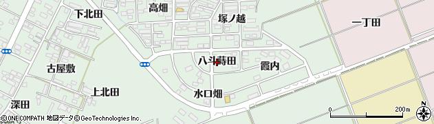 福島県郡山市田村町徳定(八斗蒔田)周辺の地図