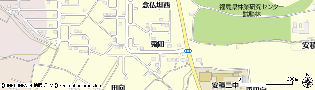 福島県郡山市安積町成田(兎田)周辺の地図