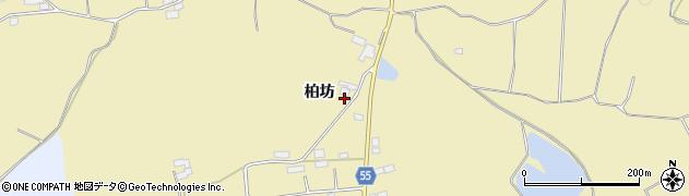 福島県郡山市三穂田町駒屋(柏坊)周辺の地図