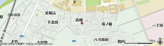福島県郡山市田村町徳定周辺の地図