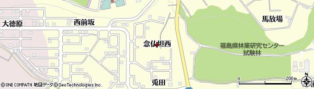 福島県郡山市安積町成田(念仏坦西)周辺の地図
