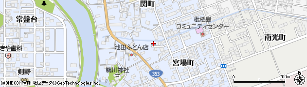 新潟県柏崎市宮場町周辺の地図