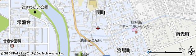 新潟県柏崎市関町周辺の地図
