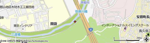 福島県郡山市安積町成田(関場)周辺の地図