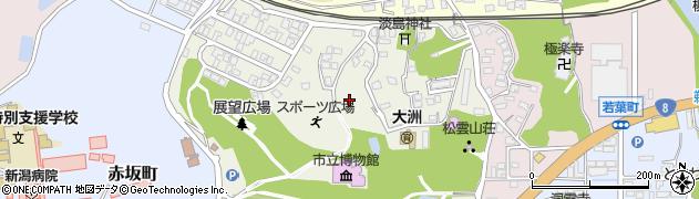 新潟県柏崎市緑町周辺の地図
