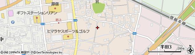 新潟県柏崎市岩上周辺の地図