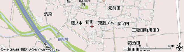 福島県郡山市三穂田町川田(新田)周辺の地図