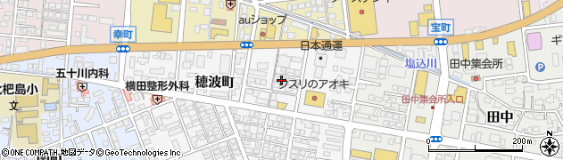 新潟県柏崎市穂波町周辺の地図