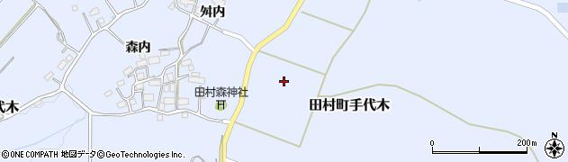 福島県郡山市田村町手代木(五十刈)周辺の地図