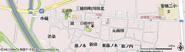 福島県郡山市三穂田町川田(東)周辺の地図
