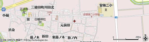 福島県郡山市三穂田町川田(元前田)周辺の地図