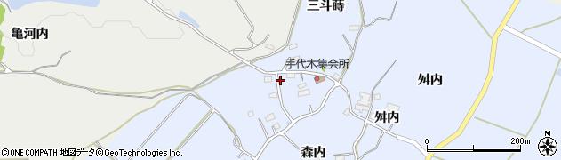 福島県郡山市田村町手代木(舘)周辺の地図