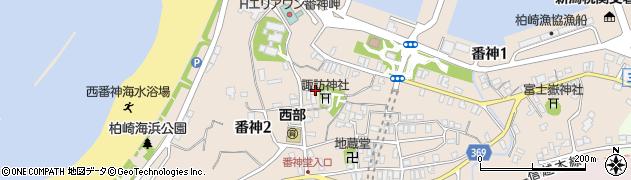 番神諏訪神社周辺の地図