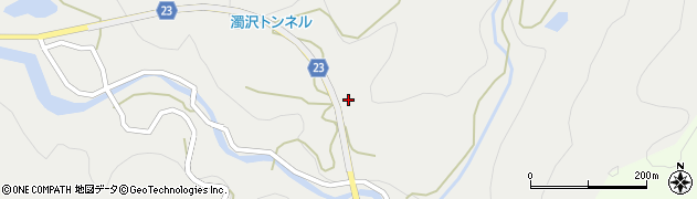 新潟県長岡市濁沢町周辺の地図