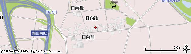福島県郡山市三穂田町川田(日向)周辺の地図