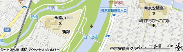 福島県郡山市安積町日出山(落合)周辺の地図