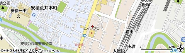 福島県郡山市安積町荒井(梅田前)周辺の地図