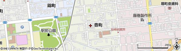柏崎刈羽原子力発電所豊町社宅周辺の地図
