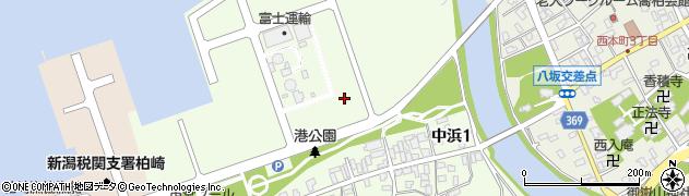 新潟県柏崎市中浜周辺の地図
