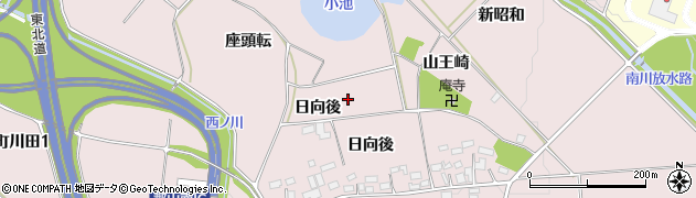 福島県郡山市三穂田町川田(日向後)周辺の地図
