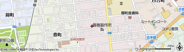 新潟県柏崎市扇町周辺の地図