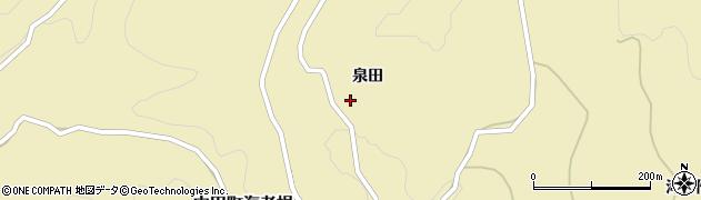 福島県郡山市中田町海老根(泉田)周辺の地図