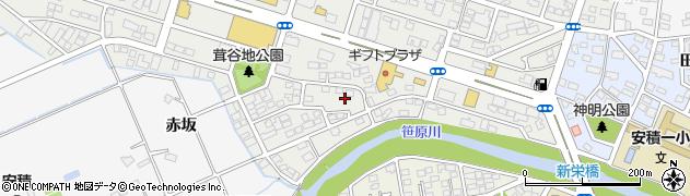 福島県郡山市安積町荒井(山ノ神)周辺の地図